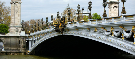 Bond's Bridge Jump (Alexandre III Bridge)